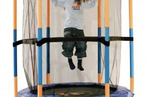 Tappeto elastico con protezione per i Bambini